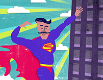 Dads are Super heroes (animation, GIF)