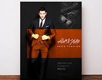 Men`s fashion flyer.