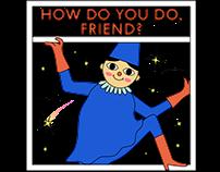 Free cheerful telegram stickers