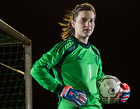 Soccer portraits with floodlight