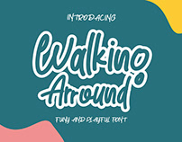 Walking Arround- funy and playfull handwriten font