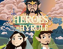 """Ilustración para Podcast """"Héroes de Hyrule"""""""