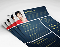 Free Stylish Personal Resume Template for Designer