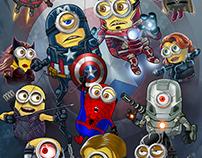 Minion America Civil War Marvel Mashup Art