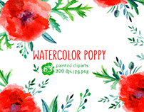 Watercolor poppy