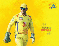 Chennai Super Kings Official Calendar Design 2019