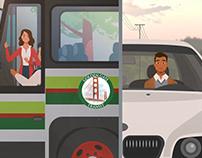 Side by Side (Benefits of public transport - Golden Gat
