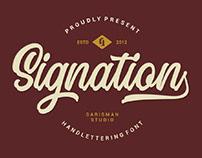 FREE | Signation Handlettering Font