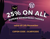 Halloween WordPress themes sale is running