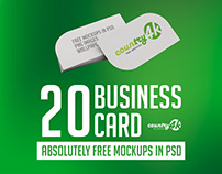 20 Free Photo-Realistic Business Card MockUp