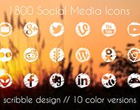 Icons Set, Social Media