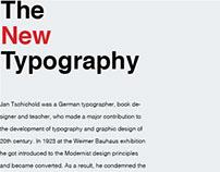 The New Typography Study