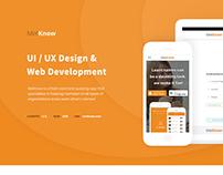 MetKnow Website. Design & Development