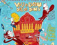 Cartel Liceo Barcelona. Jornada puertas abiertas