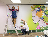 Yoobee School of Design Mural