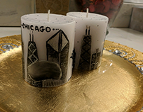 Chicago Art on candles