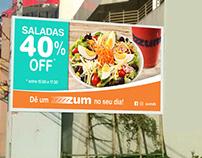 Fachada e banner ZUM