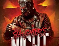 Slaughter's Night Halloween Flyer