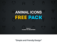 FREE! Animal Icons pack by Chanut-is-Industries