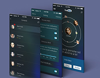 "Graphic Design of an social network app ""Youwall"""