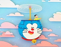 Paper cuts: Doraemon and Nobita