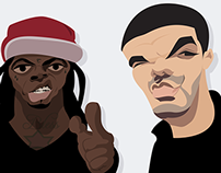 ILLUSTRATION: Lil Wayne & Drake