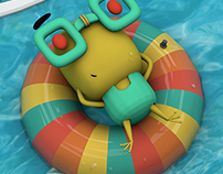 3d Frog // Rana ilustración y modelado 3D