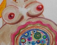 Ilustración sobre tela