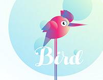 Bird Gradient concept illustration