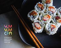 LOGO DESIGN - Yum Yum Cha, A pan Asian restaurant.