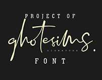 Project of Ghotesims Signature font
