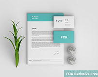 Top View Stationery Mockup With Scene Generator