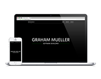 Portfolio Website (Graham Mueller, Software Developer)