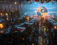 Houdini procedural city-factory