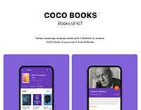 COCO BOOKS UI KIT with ANDROID Code