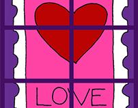 Love Stamp Tile Board