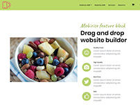 Mobirise drag and drop website builder - Feature block