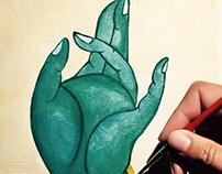 Green Goddess Tara Prithvi Mudra