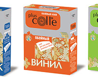 Branding and package for the new brand of glue