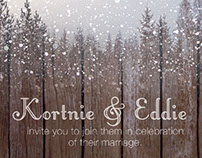 Winter Wedding Invitations: Process