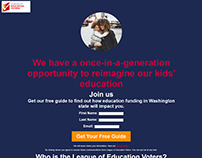 League of Education Voters McCleary Landing Page