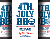 Independence Day Bbq Flyer Template