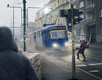 Crazy Tram Photomanipulation
