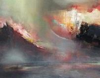 """Abisal"" acrílico sobre lienzo 200x100cm"