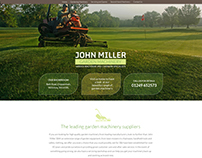 webdesign for Garden Machinery Specialists