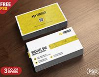 Simple Business Card Design Template PSD