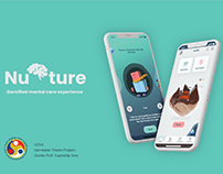 NURTURE- Gamified mental Care; UXUI