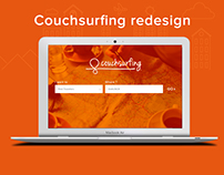 Couchsurfing website redesign concept