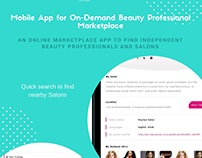 On-Demand Beauty Professional Marketplace Mobile App