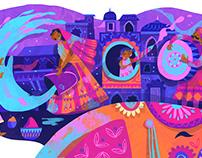Google Doodle - Holi